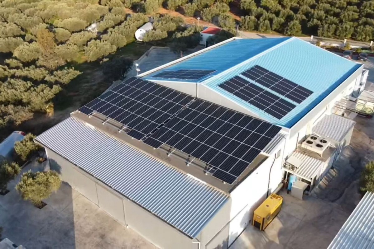 NET METERING INSTALLATION OF 50KW ON A DAIRY PRODUCT FACILITY IN HERAKLION