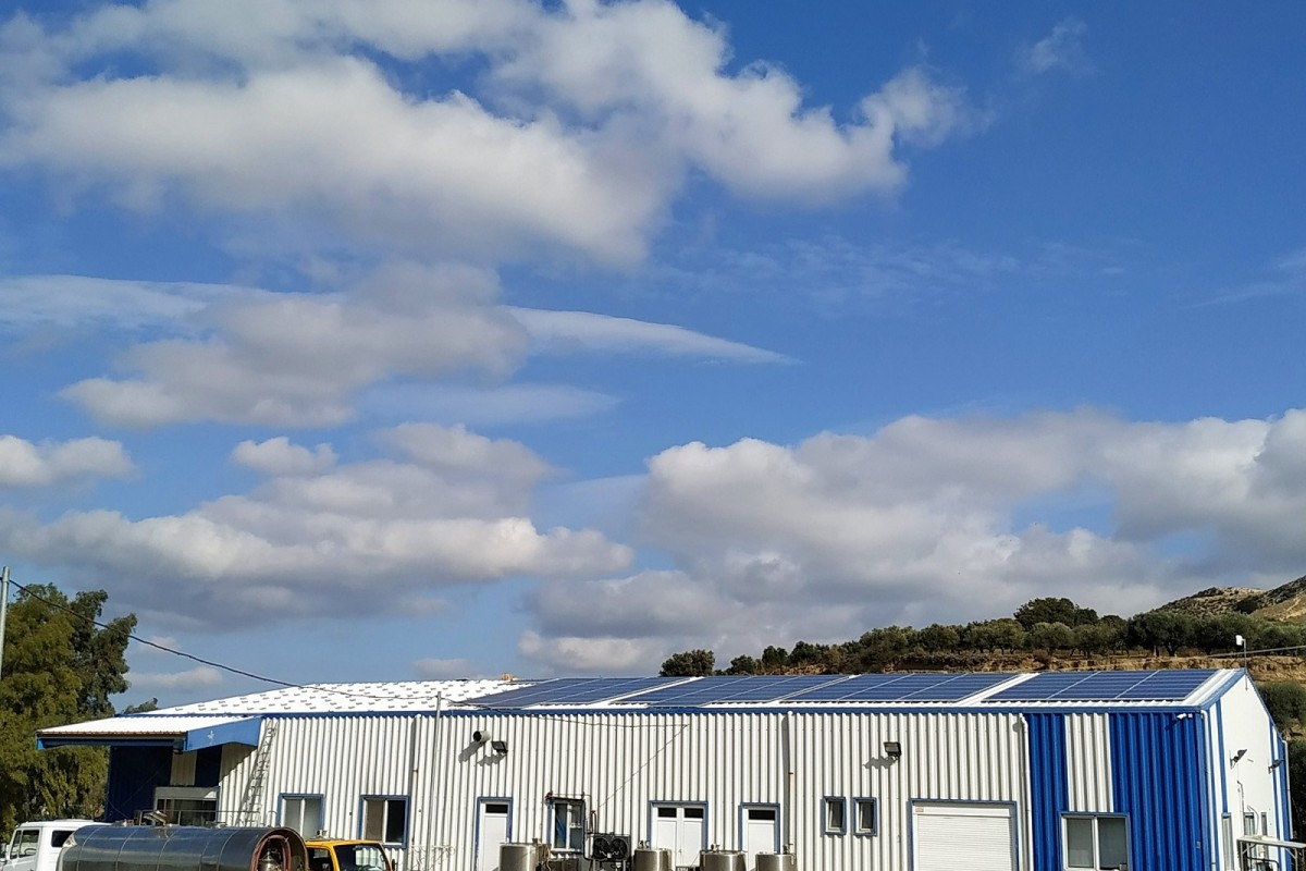NET METERING INSTALLATION OF 42,28KW ON A CHEESE MANUFACTURING COMPANY IN TSIFOUT KASTELLI